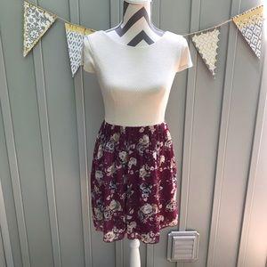 Speechless Textured Floral Chiffon Dress